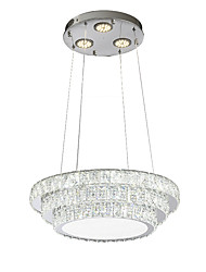 cheap -ZHISHU Nature Inspired Chic & Modern Chandelier Downlight - Crystal Multi-shade Mini Style, 220-240V, Warm White+White, LED Light Source