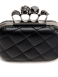 cheap -Women's Bags PU Clutch Buttons Black