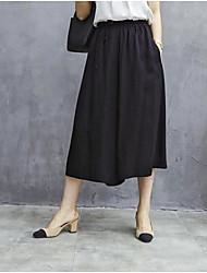 baratos -Mulheres Básico Moda de Rua Harém Calças - Sólido