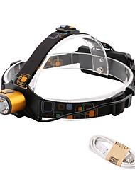 abordables -HKV Lampes Frontales / Lampe LED 1000lm 3 Mode d'Eclairage Portable / Etanche / Vie Camping / Randonnée / Spéléologie / Usage quotidien /