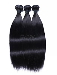 cheap -3 Bundles Brazilian Hair Straight Human Hair Human Hair Extensions 18 inch Human Hair Weaves Machine Made Soft / Smooth / Hot Sale Natural Color Human Hair Extensions Women's