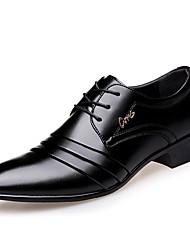 Недорогие -Муж. Официальная обувь Искусственная кожа Весна / Осень Удобная обувь Туфли на шнуровке Черный