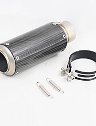 Недорогие -C18-D18 60 mm Нержавеющая сталь Глушители выхлопа For Мотоциклы Универсальный