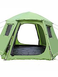 Недорогие -Shamocamel® 8 человек на открытом воздухе Дом с экраном от солнца Тент для пляжа Семейный кемпинг-палатка Выдвижной Автоматический Сферическая Двухслойные зонты 1500-2000 mm Палатка для Пикник