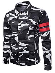 cheap -Men's Basic Military Denim Jacket-Tropical
