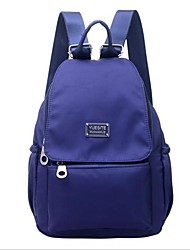 baratos -Mulheres Bolsas Tecido Oxford / Náilon mochila Ziper para Casual Azul Escuro / Roxo / Vinho