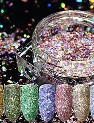 baratos -12pcs Dicas de unhas artificiais Purpurina Design Moderno / 12 cores arte de unha Manicure e pedicure Retro Festa de Casamento / Roupa Diária