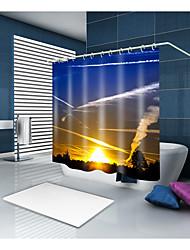 abordables -Rideaux de douche et anneaux Décontracté Rustique Polyester Moderne Nouveauté Fabrication à la machine Imperméable Salle de Bain