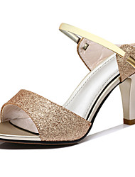 cheap -Women's Shoes Synthetic Microfiber PU Summer Fall Basic Pump Gladiator Sandals Stiletto Heel for Casual Party & Evening Gold Pink