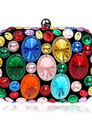 Недорогие -Жен. Мешки Полиэстер / ABS + PC Вечерняя сумочка Кристаллы Золотой / Лиловый / Цвет радуги