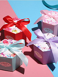cheap -, Cardboard Favor Holder with Ribbons Favor Boxes - 12