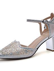 preiswerte -Damen Schuhe Glitzer Sommer / Herbst Gladiator / Pumps High Heels Blockabsatz Spitze Zehe Silber / Rosa / Party & Festivität