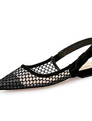 abordables -Femme Chaussures Tulle Printemps Eté Confort Ballerines Talon Plat Bout pointu pour Soirée & Evénement Noir