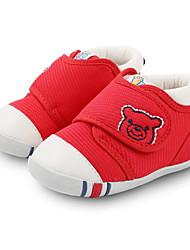 billige -Pige Drenge Sko Stof Forår Efterår Første gåsko Komfort Støvler for Afslappet Rød Blå Kakifarvet