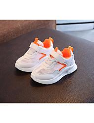 billige -Pige Drenge Sko Tyl Forår Efterår Komfort Sneakers for Afslappet udendørs Sort Orange Grøn