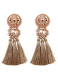 cheap -Women's Drop Earrings - Tassel, Fashion Light Pink / Rose Gold / Dark Green For Gift / Daily