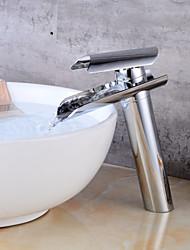 abordables -Robinet lavabo - Jet pluie Chrome Set de centre Mitigeur un trou