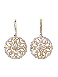 cheap -Cubic Zirconia Drop Earrings - Korean, Fashion Gold For Party / Evening / Gift