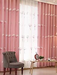 povoljno -Sheer Zavjese Shades Living Room Cvjetni print Pamuk / poliester Yarn Dyed