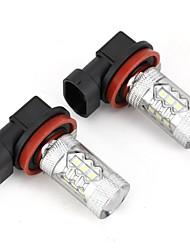 Недорогие -2pcs H11 Автомобиль Лампы 5.5W 120lm Светодиодная лампа Аксессуары For Универсальный Все модели Все года