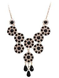 Недорогие -Ожерелья с подвесками  -  Цветы Милая, Элегантный стиль Черный, Красный 44 cm Ожерелье Назначение Свадьба, Для вечеринок