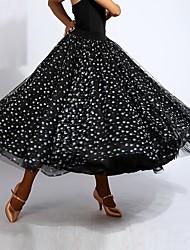abordables -Danse de Salon Bas Femme Utilisation Spandex Ruché Taille moyenne Jupes