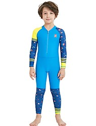 cheap -Boys' Rash Guard Dive Skin Suit SPF30, UV Sun Protection, Quick Dry Nylon / Spandex Full Body Swimwear Beach Wear Diving Suit Patchwork Front Zip Swimming / Diving / Surfing / Stretchy / UPF50+
