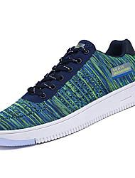 billige -Herre Sko Tyl Forår Efterår Komfort Sneakers for Atletisk Sort Grå Grøn og Blå