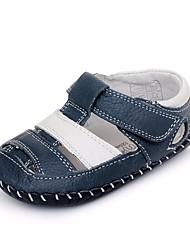 billige -Pige Drenge Sko Læder Sommer Første gåsko Komfort Sandaler for Afslappet Blå