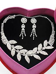 Недорогие -Ожерелья-цепочки В форме листа Мода Элегантный стиль Белый 20 cm Ожерелье Бижутерия Назначение Свадьба Для вечеринок