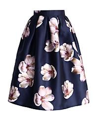 preiswerte -Damen Grundlegend A-Linie Röcke - Blumen