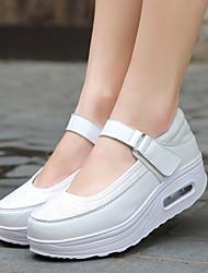 povoljno -Žene Cipele PU Proljeće Jesen Udobne cipele Sneakers Ravna potpetica za Kauzalni Obala Crn Sive boje Fuksija
