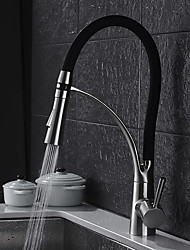 abordables -Robinet de Cuisine - Moderne Marque-place debout Nickel brossé Pull-out / Pull-down Vasque