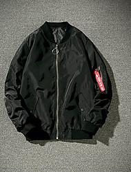 Недорогие -Муж. Куртка Активный Армия-Однотонный