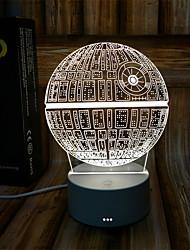 Недорогие -1 комплект Звезда 3D ночной свет RGB Аккумуляторы AAA USB Диммируемая Сенсорный датчик Атмосферная лампа Креатив Меняет цвета DC 5V