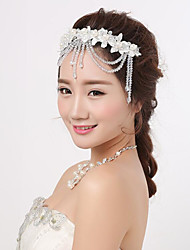 cheap -Crystal / Lace Headpiece with Crystal / Lace 1 Piece Wedding / Party / Evening Headpiece