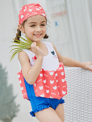cheap -SABOLAY Girls' One Piece Swimsuit Detachable Cap, Comfortable Polyester / Spandex / Chinlon Sleeveless Beach Wear Swimwear Swimming /