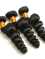 cheap -Brazilian Hair Wavy One Pack Solution Human Hair Weaves Extention Natural Black All