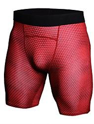 Недорогие -Муж. Облегающие шорты для бега - Белый, Черный, Красный Виды спорта Мода, камуфляж Спандекс Шорты Спортивная одежда Легкие,
