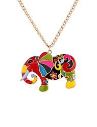 Недорогие -Муж. Цветной Слон Ожерелья с подвесками  -  На каждый день Цветной Этнический Цвет радуги 65cm Ожерелье Назначение Подарок фестиваль