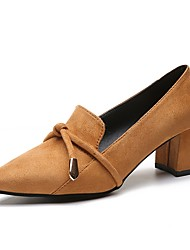 baratos -Mulheres Borracha Primavera / Outono Conforto Saltos Salto Baixo Dedo Apontado Preto / Amarelo