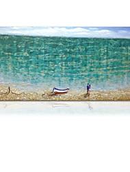 Недорогие -styledecor® современная ручная роспись абстрактная масляная живопись любителей пляжей на холсте для настенного искусства, готовая повесить искусство