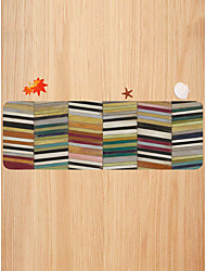 cheap -Creative Sports & Outdoors Modern Doormats Area Rugs Bath Mats Flannelette, Superior Quality Rectangle Striped Lines / Waves Rainbow Rug