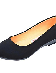 povoljno -Žene Cipele PU Proljeće Jesen Udobne cipele Natikače i mokasinke Kockasta potpetica za Kauzalni Crn Plava