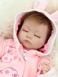 Недорогие -NPKCOLLECTION NPK DOLL Куклы реборн Девочки 18 дюймовый Полный силикон для тела Силикон - Новорожденный как живой Милый стиль Ручная работа Безопасно для детей Non Toxic Детские / Головка дискеты