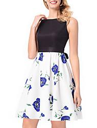 cheap -Women's Street chic Trumpet/Mermaid Dress - Floral