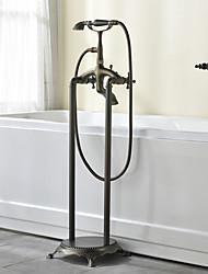 Недорогие -Смеситель для ванны - Античный Античная медь Установка на полу Керамический клапан