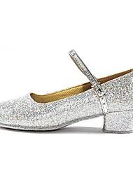cheap -Women's Modern Paillette Heel Indoor Customized Heel Gold Silver Customizable