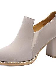 preiswerte -Damen Schuhe Wildleder Frühling Herbst Pumps Gladiator High Heels Blockabsatz für Normal Party & Festivität Schwarz Beige