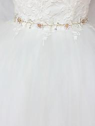 Недорогие -Сатин / тюль Свадьба / Особые случаи Кушак С Кристаллы / Искусственный жемчуг Жен. Пояса и ленты
